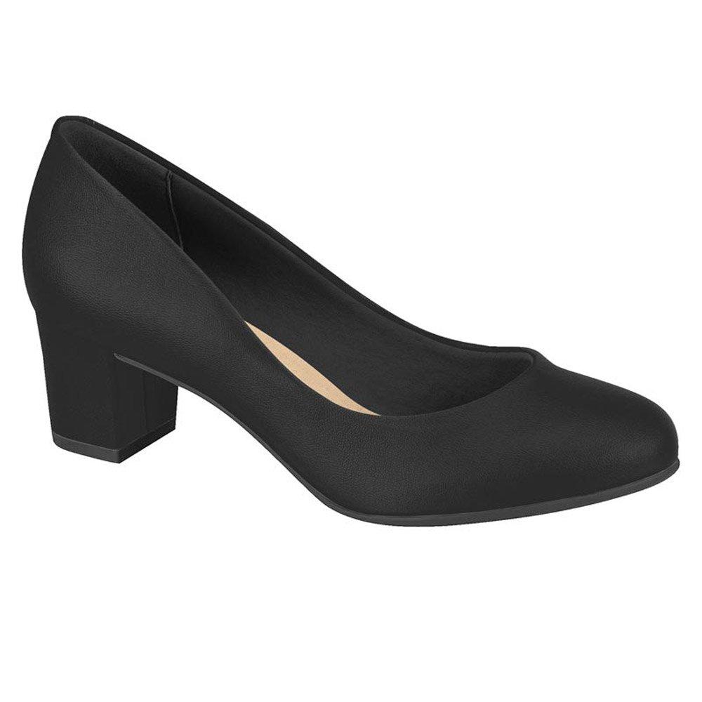 Sapato Feminino Beira Rio Camurça Flex Salto Bloco  4777.309